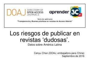 Publicaciones, Calidad Editorial